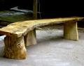 Large rustic austrian pine bench