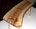 Walnut Split Slab Bench