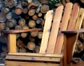 Western red cedar chair