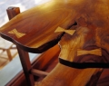 Black Walnut End Table Close Up