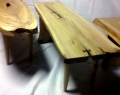 Red Oak Trestle Tables
